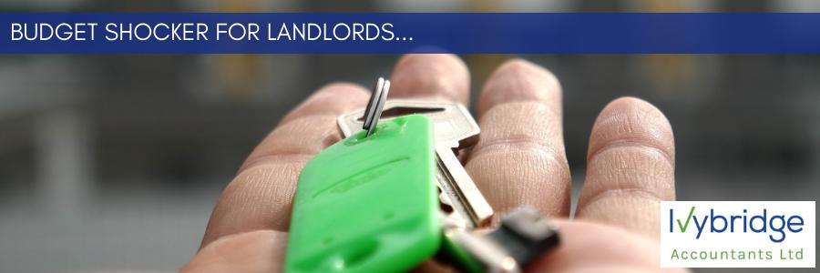 Budget shocker for landlords
